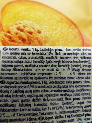 Oga Jogurts - Ingredienti - lv