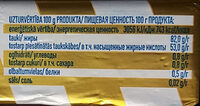 82% saldkrējuma sviests - Nutrition facts - lv