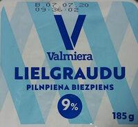 9% pilnpiena biezpiens, lielgraudu - Produit - lv