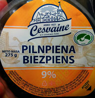 9% pilnpiena biezpiens - Produit - lv
