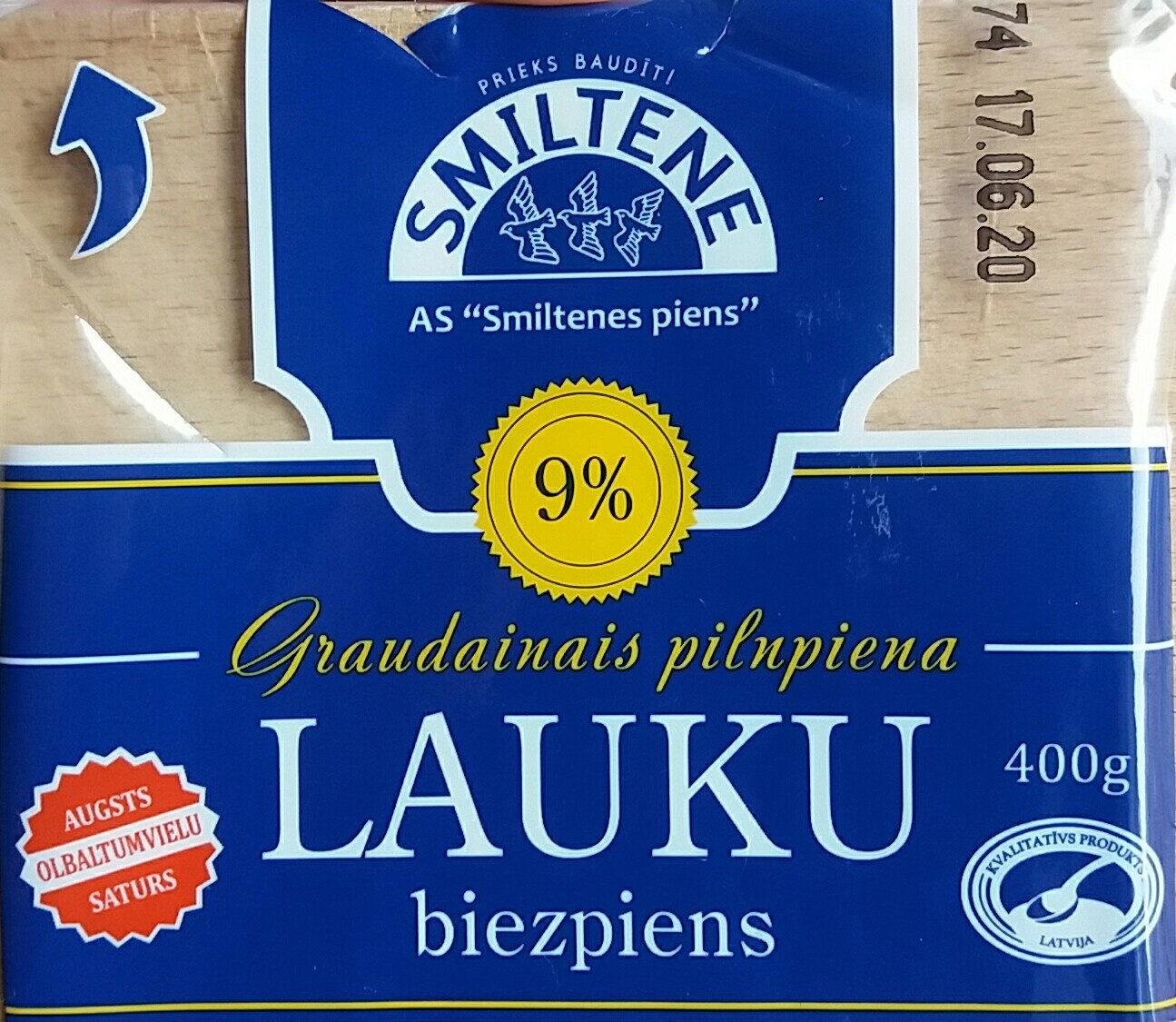 9% graudainais pilnpiena biezpiens Lauku - Produit - lv