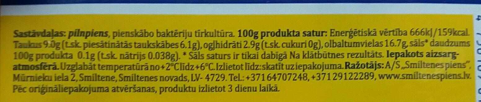 9% graudainais pilnpiena biezpiens Lauku - Ingrédients - lv