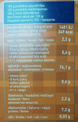 Brown rice - Valori nutrizionali - en