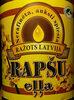Rapšu eļļa, nerafinēta, auksti spiesta - Prodotto
