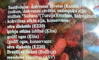 Žāvētu augļu, riekstu un sēkliņu maisījums Fitness - Ingrediënten - lv