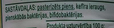 3.2% kefīrs - Ingredienti - lv