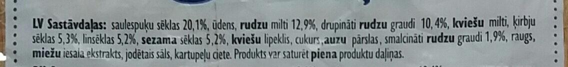 Rudzu doniņas Sēklu - Ingredienti - lv