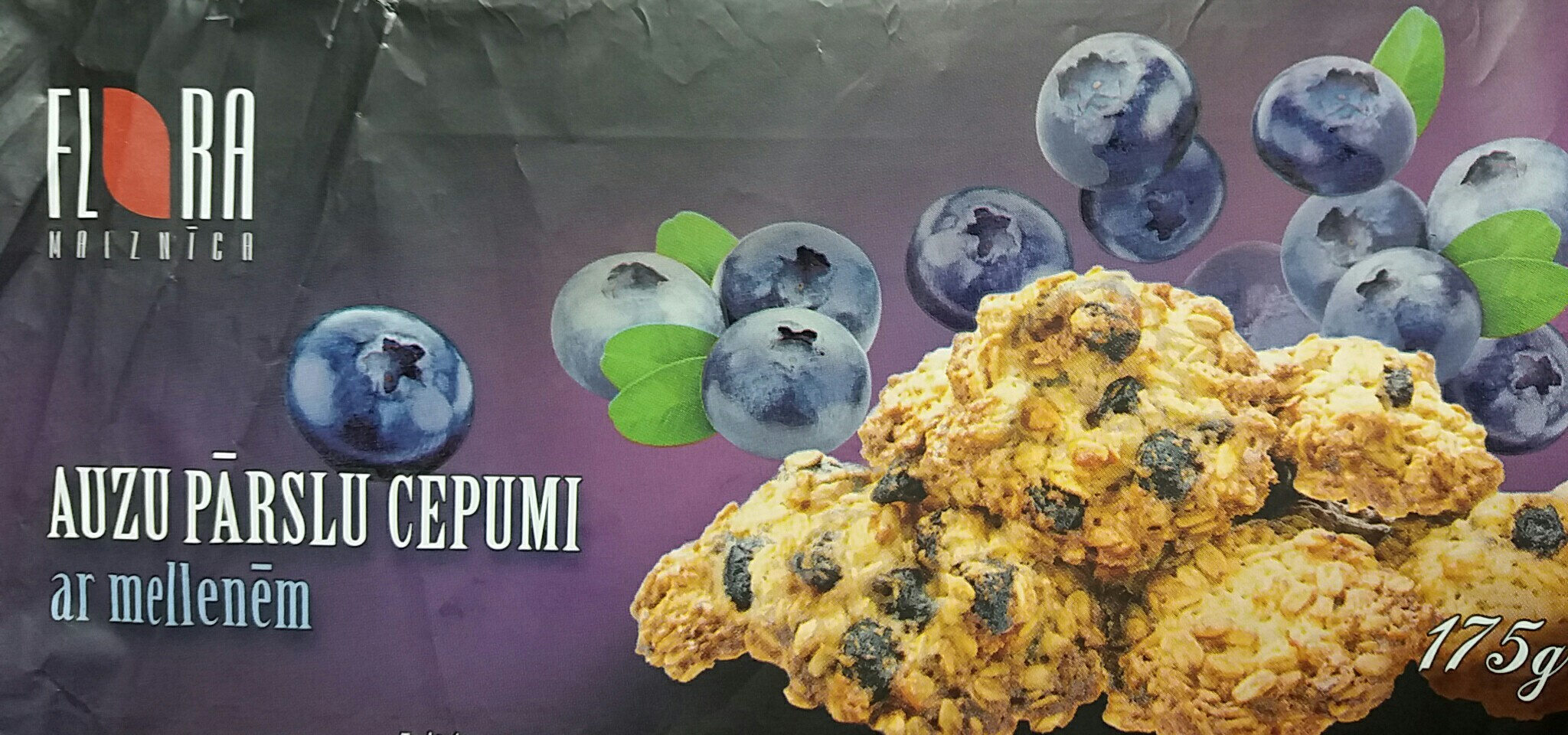 Rolled oat biscuits with blueberries - Prodotto - en