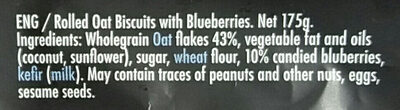 Rolled oat biscuits with blueberries - Ingredienti - en