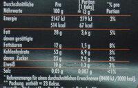 Haferflockenkekse - Valori nutrizionali - de