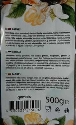 Rozīnes - Product - lv