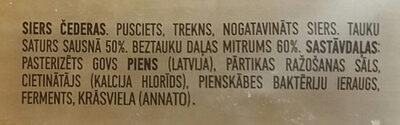 Čederas siers - Ingredienti - lv