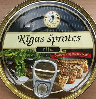 Rīgas šprotes eļļā - Product - lv