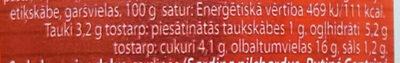 Sardīnes tomātu mērcē - Nutrition facts - lv