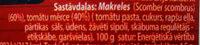skumbrijas tomātu mērcē - Ingredients - lv