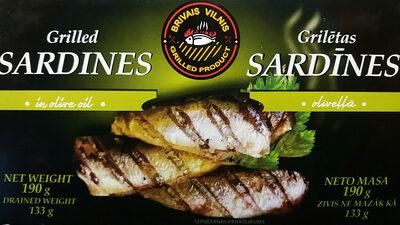 Grilled sardines in olive oil - Product - en