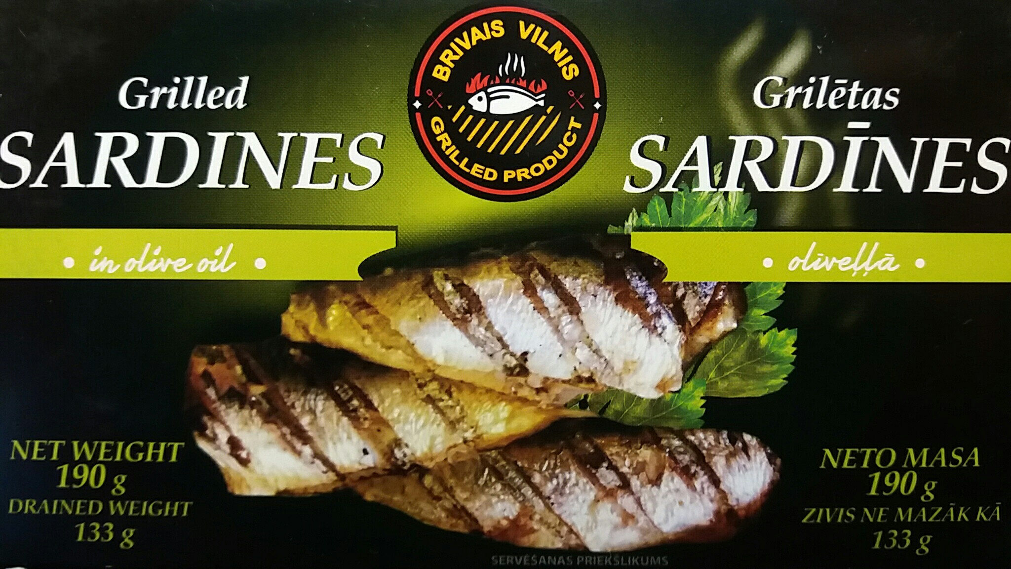 Grilled sardines in olive oil - Prodotto - en
