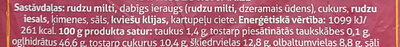 Īsta rudzu rupjmaize - Ingredienti - lv