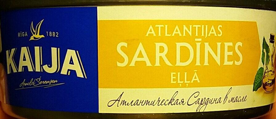Atlantijas sardīnes eļļā - Product - lv