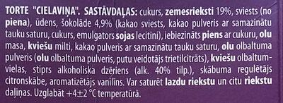 Torte Cielaviņa - Ingredienti