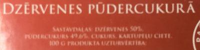 Dzērvenes pūdercukurā - Ingredients - lv