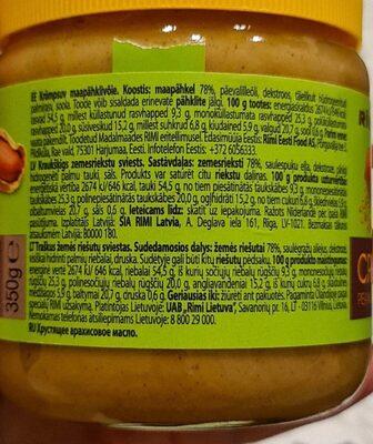 Rimi Crunchy peanut butter - Nutrition facts - lv