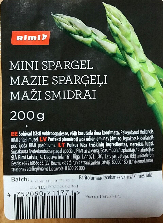 Mazie sparģeļi - Prodotto - lv