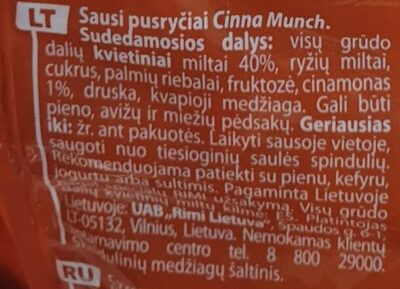 cinna munch - Ingredients - lt
