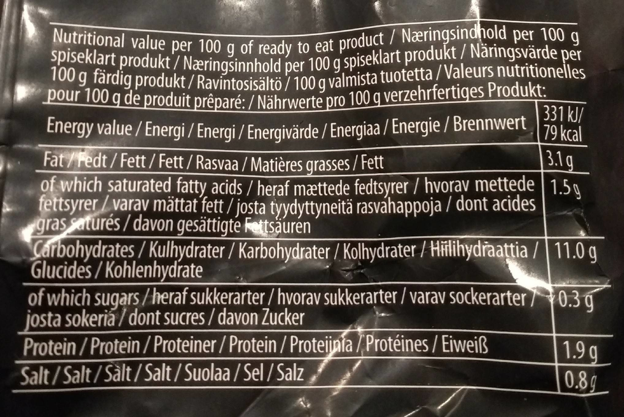 Instant Noodles Chicken flavour - Voedingswaarden