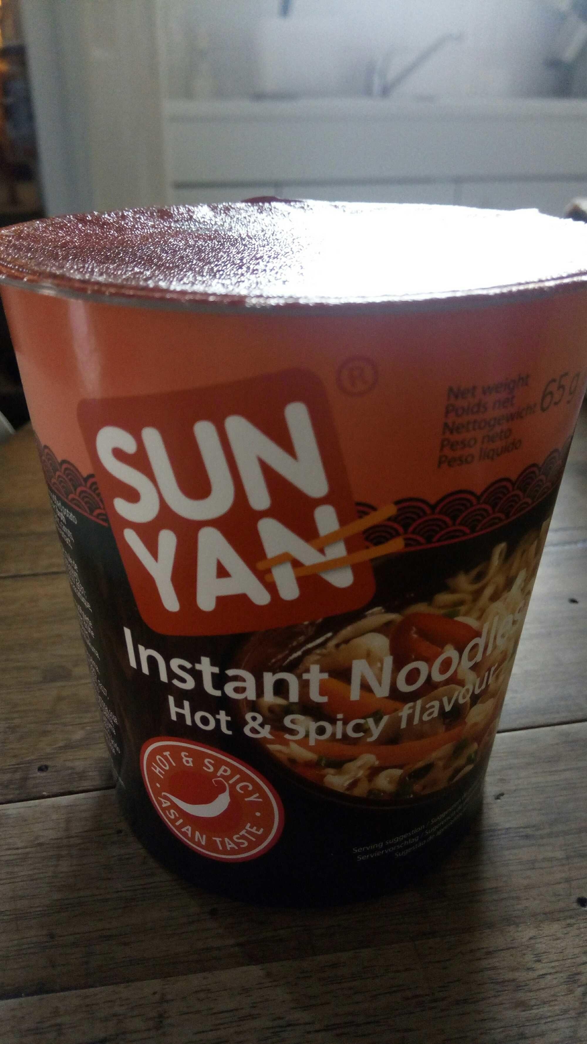 12 Paquets De Sunyan Cup Noodles Hot &spicy - Produit