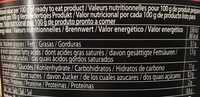 12 Paquets De Sunyan Cup Noodles Hot &spicy - Informations nutritionnelles