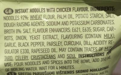 instant noodles with chicken flavour - Ingredients - en