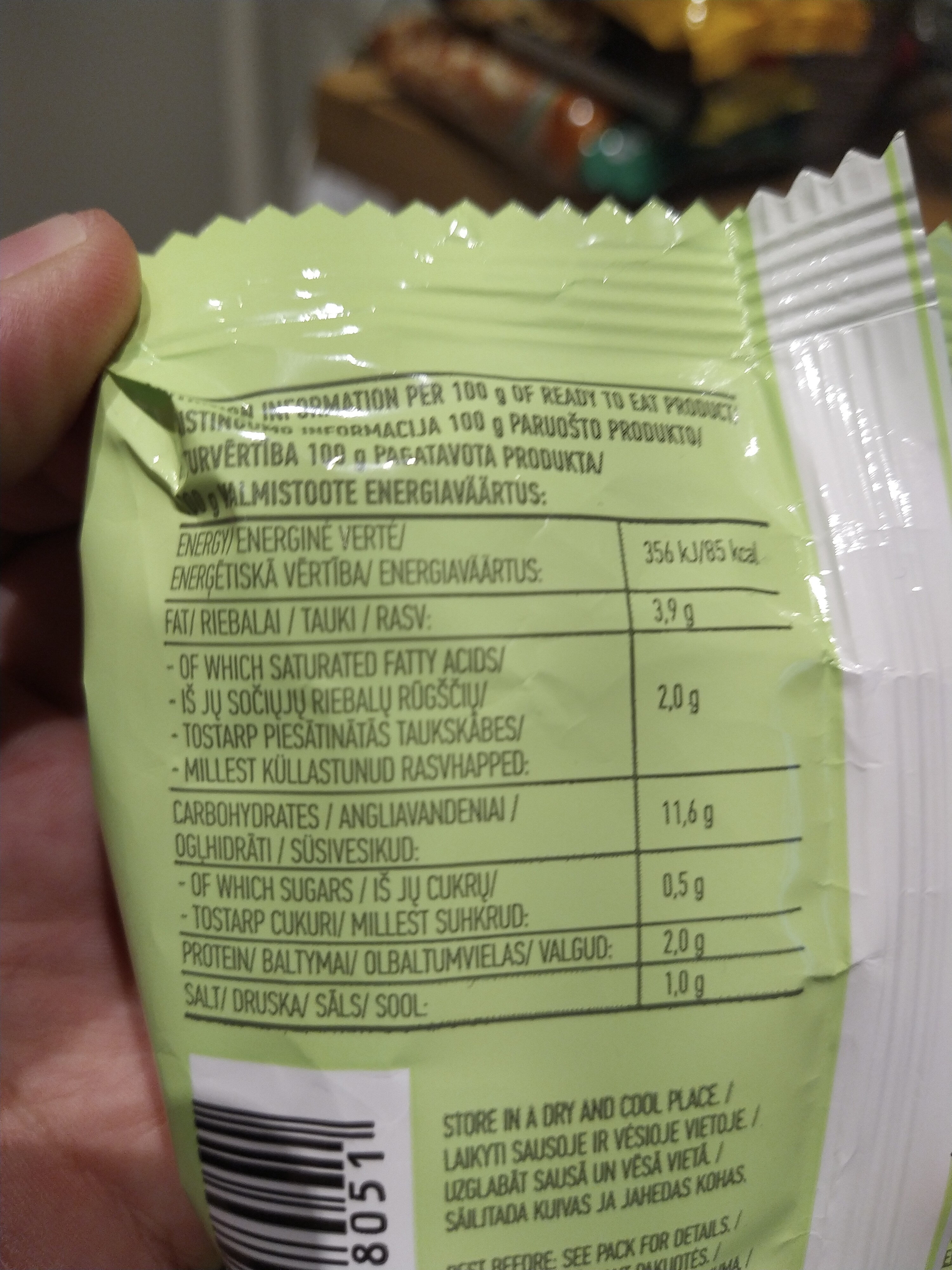 instant noodles with chicken flavour - Nutrition facts - en