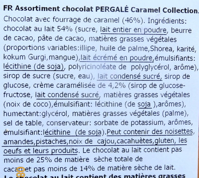 Caramel Collection - Ingredients