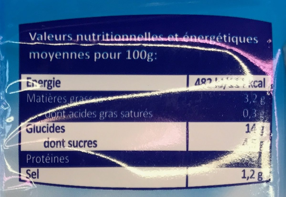 Plaisir de la mer - Nutrition facts - fr