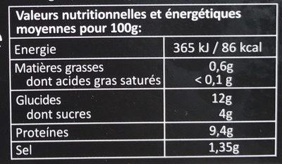 Premium Noblesses de Surimi - Voedingswaarden - fr