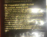 Surimi - Ingrediënten - fr