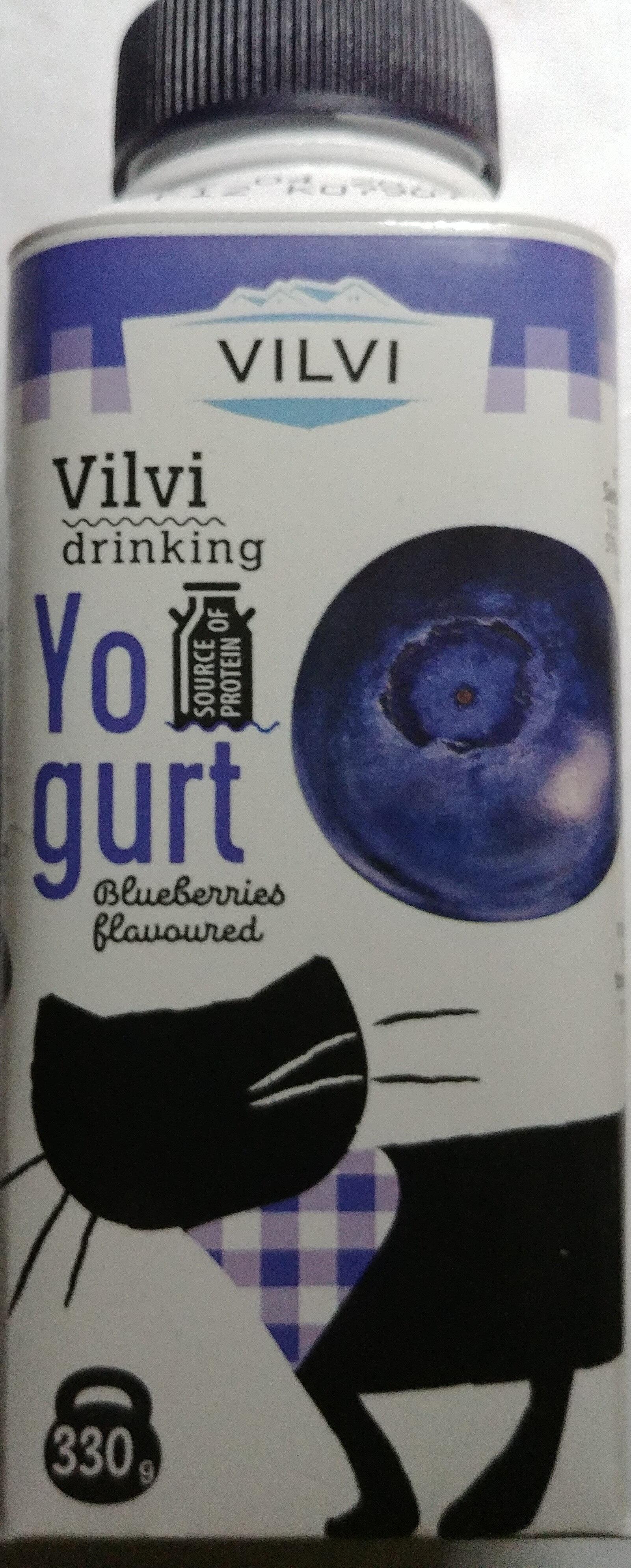 Jogurt pitny o smaku czarnej jagody 2% - Produkt - pl