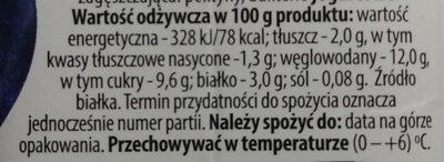 Jogurt pitny o smaku czarnej jagody 2% - Wartości odżywcze - pl