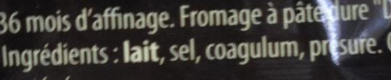 36 (40% MG) - Ingrédients - fr