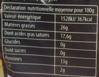 36 (40% MG) - Nutrition facts - fr