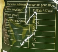 Fromage 18 mois piquant - Nutrition facts - fr
