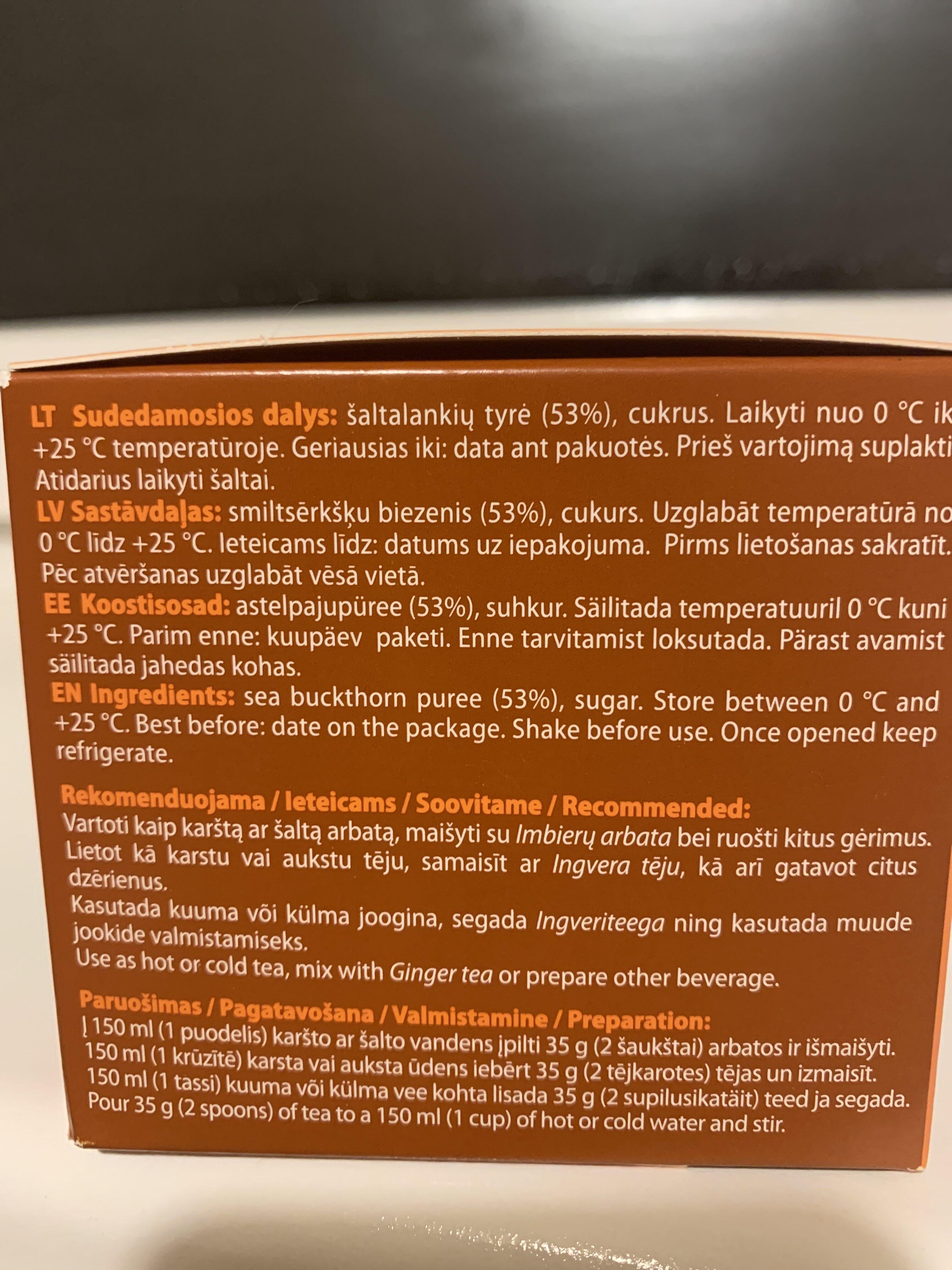 Sea buckthorn puree - Ingredients - lt