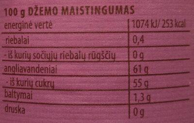 Figų džemas - Nutrition facts - lt