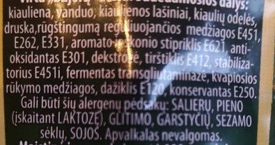 Bajorų Dešra - Ingredients - lt