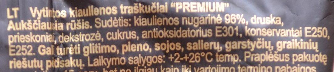 Dried Pork Chips Premium - Ingredients - lt