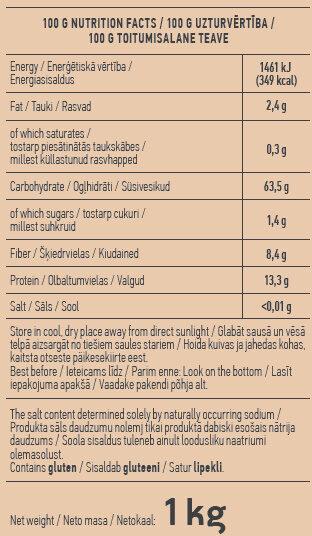 Spelt Flour - Nutrition facts - en
