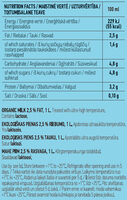 Organic Milk - Nutrition facts - en