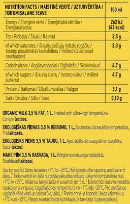 Organic Milk - Харчова цінність - en