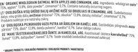 Apple & Cinnamon Oatmeal - Ingredients - en